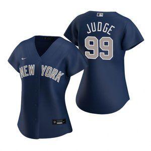 Women New York Yankees Aaron Judge Jersey Blue